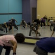 Bboy Kuriouz taking his students to the floor