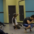 Bboy Kuriouz speaking during his workshop