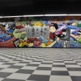 Mural in the Practice Area / Venue Area of The Bboy Spot