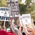 Some of the protestors at Trayvon's march - Justice for Trayvon