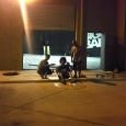 Mex, Spen and Jonka constructing the craft outside our warehouse - Biggest &amp; Baddest's Red Bull Flugtag adventure