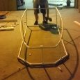 Mex putting the finishing touches on the craft's frame - Biggest &amp; Baddest's Red Bull Flugtag adventure