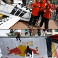 Us before and during our flight!  - Biggest &amp; Baddest's Red Bull Flugtag adventure