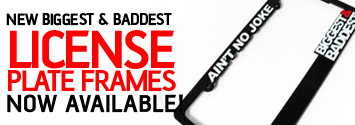 B&B License Plate Frames Now Available!